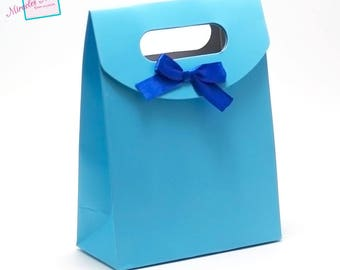 2 pockets gifts in box, blue, 165 x 125 x 60 mm