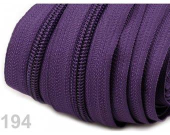 25 M purple zipper mesh 5 mm spiral