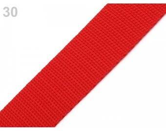 1 meter of 25 mm red nylon webbing
