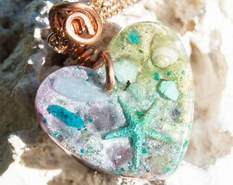 Orgone Pendant Necklace - Life Force Generator - Reiki Infused - 528hz - Crystal Artisan Jewelry