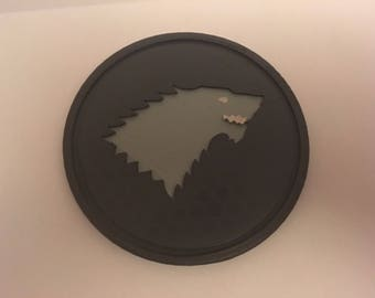 Game of Thrones Stark 3D Printed and hand painted coaster - GoT