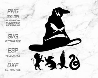 Sorting hat Hogwart home logo Harry Potter Quote SVG,Clipart,esp,dxf,png 300 dpi