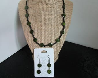 Small Black PearlNecklace & Earrings set