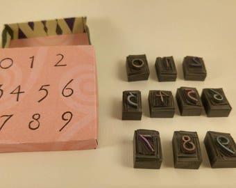 handmade stamp numbers