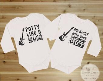 Twin Onesies, Matching Onesies, Funny Twin Onesies, Funny Baby Onesies, Party Rock Out, Cute Baby Onesie, Sibling Onesies, New Baby Gift