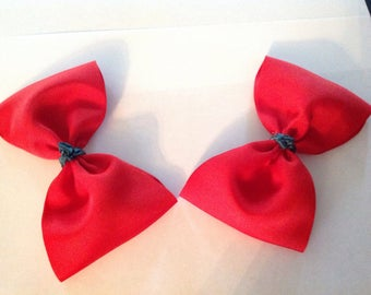 Red hair bow/large