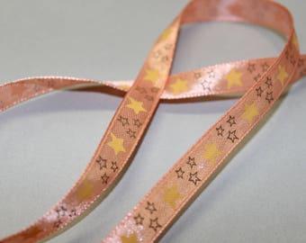 Fancy stars, pastel Orange Ribbon