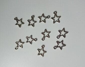 Star 10 shape charm 13 mm