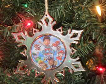 Paw Patrol Personalized Acrylic SnowFlake Ornament *Free Personalization*