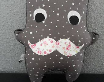Plush baby themed small grey monstrouilloux starry