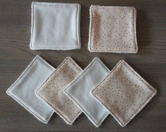 SET OF 8 WIPES DEMAKE UP MODEL PINK OR BABY POWDER AND GOLD
