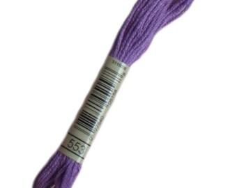 Fil 553 Mouliné spécial DMC 553 Améthyste violette - Fil à broder dmc mouliné 553 - Echevette de fil dmc mouline 553