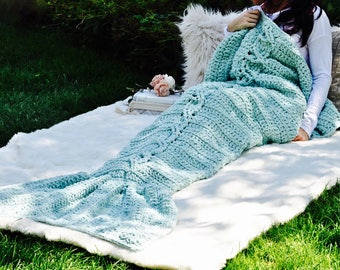 Mermaid tail blanket, mermaid blanket, boho mermaid blanket, boho, crochet, crochet mermaid blanket, teen gift, gift for her