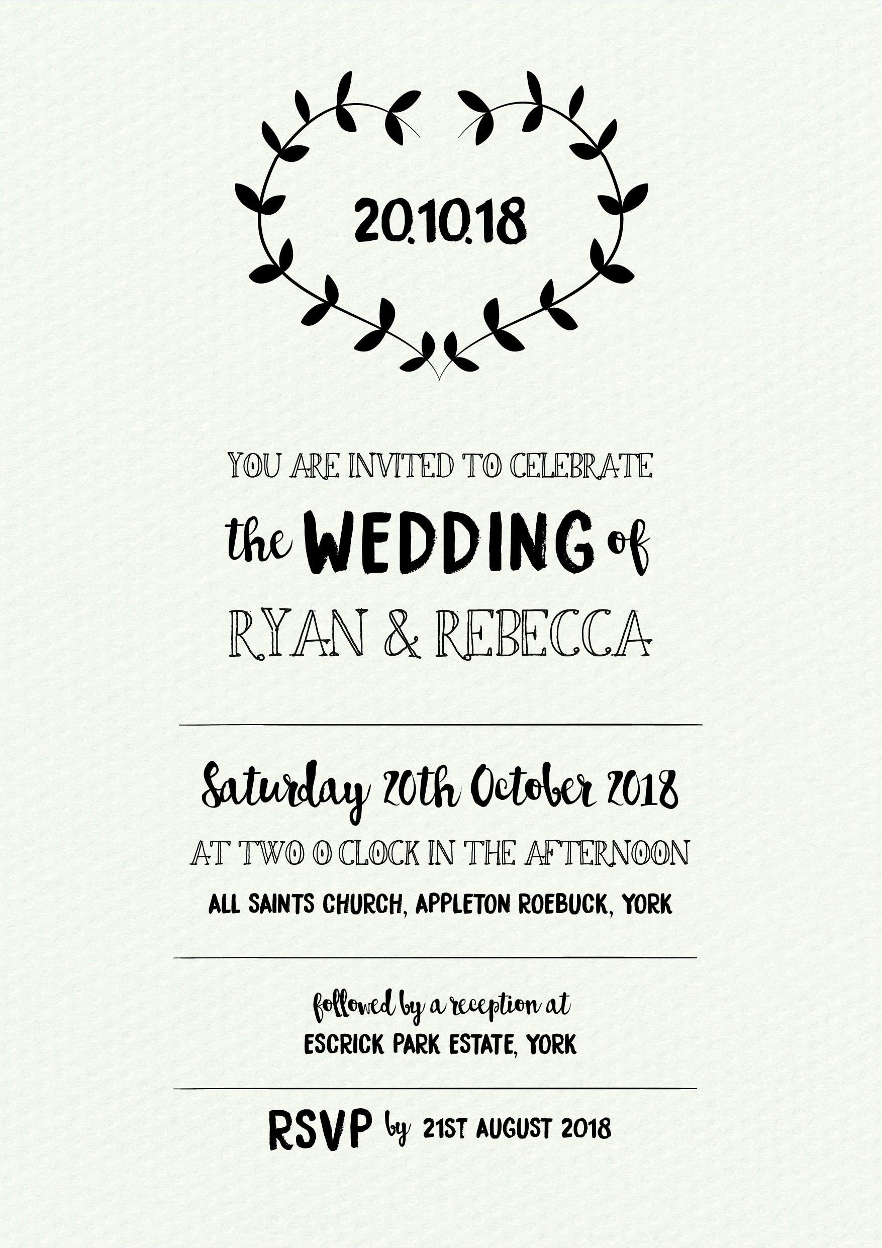 wedding invitation template wedding invitation editable wedding