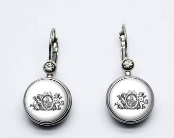 dangle earrings snaps angels, hands, witches, skulls hello kitty, harley