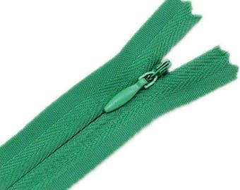 10pcs Lot closures lightning Nylon Invisible green 24cm