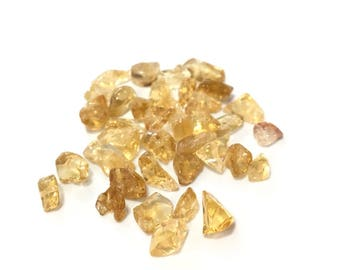 ♥ X 200 CHIPS 3 CITRINE STONE BEADS / 5MM ♥