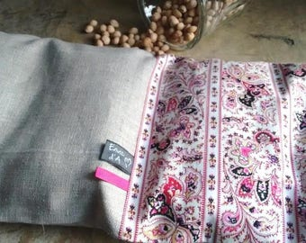 Heating No. 21 - vintage pink flower and paisley - cherry kernel