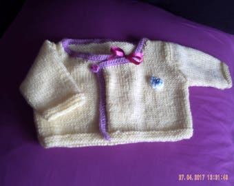 Top wool knitted baby 0-3 months