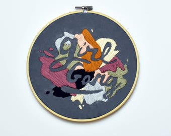 Girl Gang Embroidery   In Hoop Embroidery   Modern Home Decor