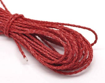 1 M Cordon braided red faux leather