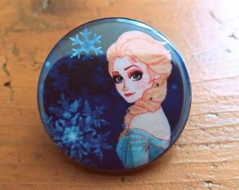 Badge Elsa La reine des Neiges 32mm