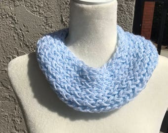 Handmade Knitted Infinity Scarf - Item #3001