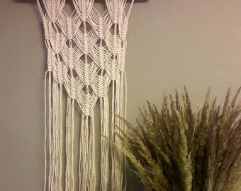 Macrame medium size wall hanging, hygge wall hanging