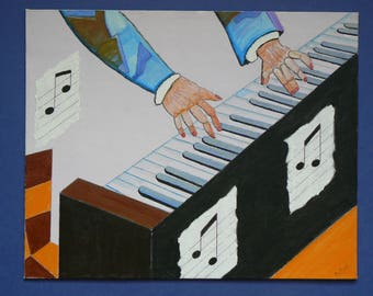 Painting on canvas: acrylic: the five senses