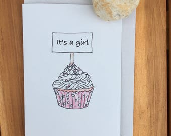 Birth announcement for a girl