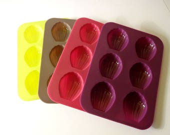 4 molds mini Madeleine silicone-fimo - creative cooking