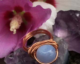 Blue Lace Agate Ring(:
