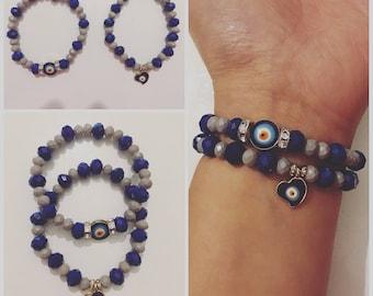 Turkish eye evil eye charm bracelet