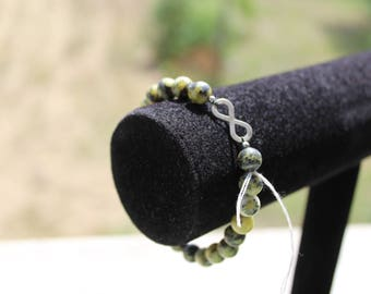 serpentine bracelet with 925 sterling silver stamped infinity sign