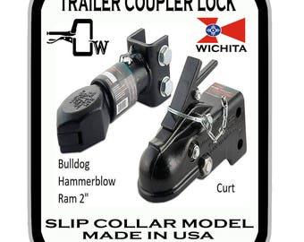 Trailer locks, Trailer coupler locks, Bulldog, Ram, Hammerblow, Curt, Made in USA
