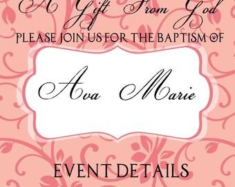 Baptism (Or Christening) Invitations