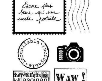 """Postcard"" ARTEMIO clear stamps"