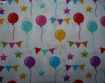 Fabric C316 balloons and Bunting coupon 35x50cm