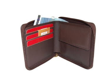 mens leather wallet mens wallet card holder wallet leather coin purse wallet travel wallet brown wallet black