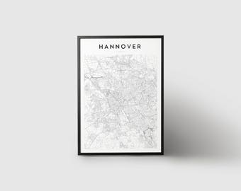 Hannover Map Print
