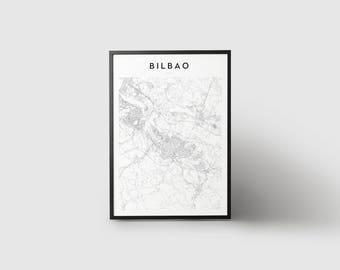 Bilbao Map Print