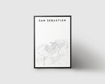 San Sebastián Map Print