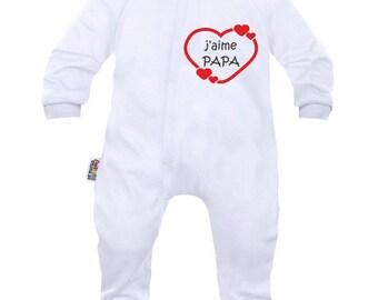 Baby pyjamas: I love Daddy