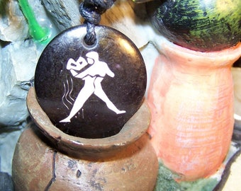 Aquarius zodiac sign pendant necklace Locket