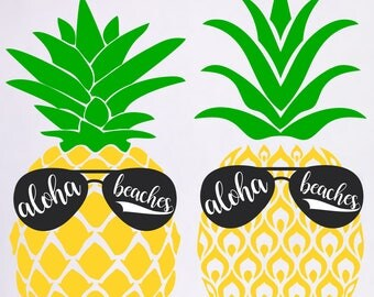 Aloha Beaches svg Aloha Beaches Pineapple svg files for cricut svg for silhouette vector cut files svg dxf