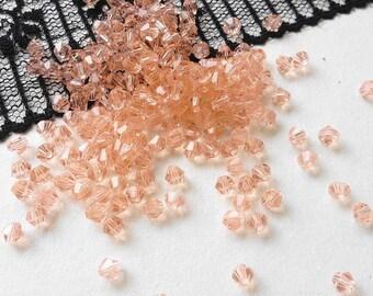 Crystal SWAROVSKI BICONE beads 4 mm (NI2) Crystal beads 10 PALE pink