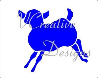 553 Sheep stencil