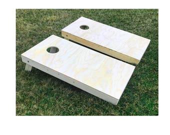 Unfinished Cornhole Board Set