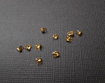 1 lot of 20 nodes metal Gold 4 x 3.5 mm