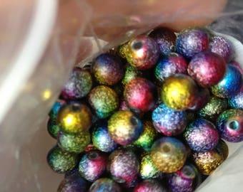 20 beautiful colors metallic 8mm beads